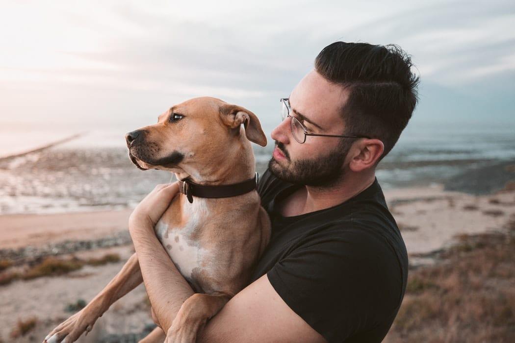chien homme