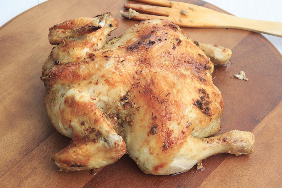 poulet cuit four aliments bons chien