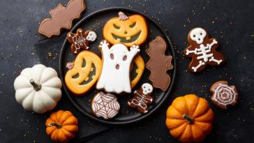 biscuits glacés d'halloween